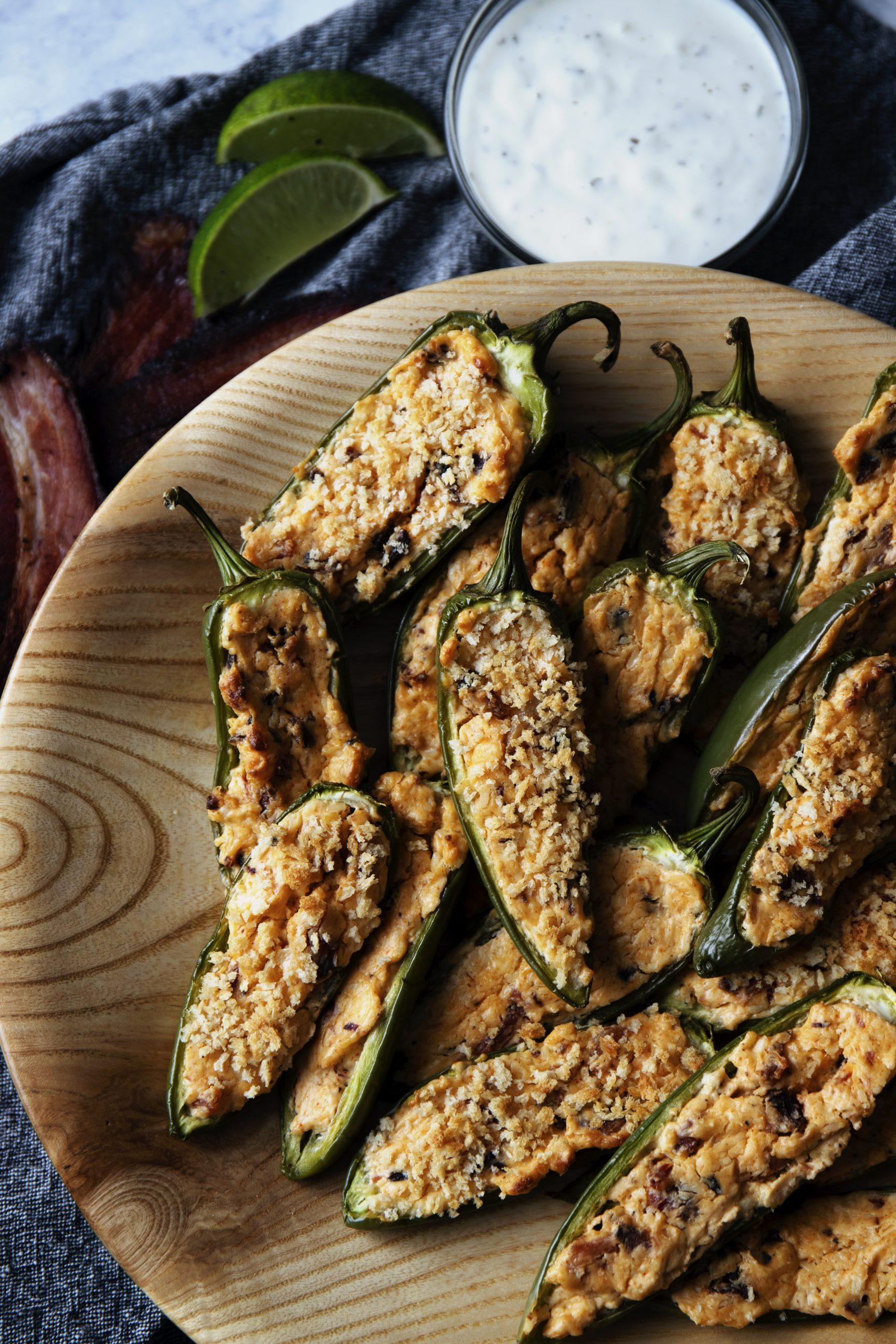 Cream Cheese Stuffed Jalapeno Poppers: a winning appetizer on game day
